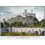 Puzzle  Grafika-00573 Affiche Currier & Ives : Collège Militaire de Chapultepec , 1847