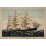 Puzzle  Grafika-00575 Affiche Currier & Ives : Clipper Ship Three Brothers , 1875