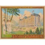 Puzzle  Grafika-00576 Affiche Cachat's Majestic - Chamonix , 1910