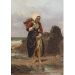 Puzzle  Grafika-00582 Charles Giraud : Jeune Fille sur la Rive , XIXe Siècle