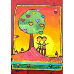 Puzzle  Grafika-00669 Anne Poiré & Patrick Guallino - Arbre à se refléter ensemble