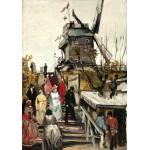 Puzzle  Grafika-00685 Van Gogh Vincent : Le Moulin de Blute-Fin, 1886