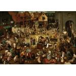 Puzzle  Grafika-00694 Brueghel Pieter : Le Combat de Carnaval et Carême, 1559
