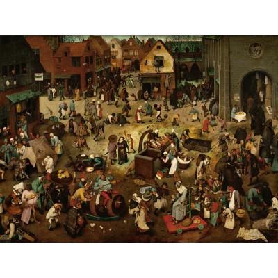 Puzzle Grafika-00700 Brueghel Pieter : Le Combat de Carnaval et Carême, 1559