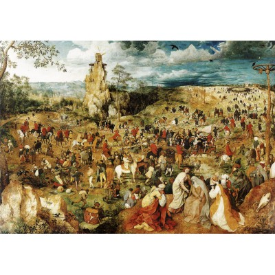 Puzzle Grafika-00701 Brueghel Pieter : Le Portement de Croix, 1564