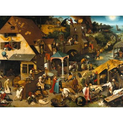 Puzzle Grafika-00707 Brueghel Pieter : Proverbes Flamands, 1559