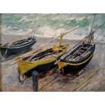 Puzzle  Grafika-00732 Claude Monet : Trois bateaux de Pêche, 1886