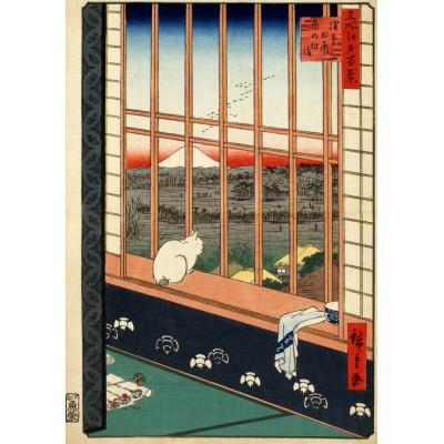 Puzzle Grafika-00756 Utagawa Hiroshige : Rizières d'Asakusa et Festival Torinomachi, 1857