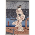 Puzzle  Grafika-00771 Utagawa Hiroshige : Evening on the Sumida River, 1847-1848