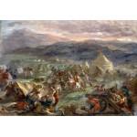 Puzzle  Grafika-00779 Delacroix Eugène : Botzaris surprend le camp des turcs au lever du soleil, 1860-62