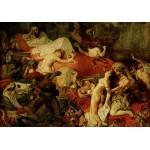 Puzzle  Grafika-00782 Delacroix Eugène : La Mort de Sardanapale, 1827