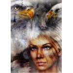 Puzzle  Grafika-00785 La Femme, l'Aigle et le Cheval