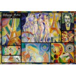 Puzzle  Grafika-00853 Delaunay Robert - Collage