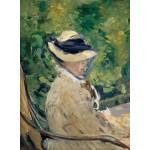 Puzzle  Grafika-01128 Edouard Manet : Madame Manet à Bellevue, 1880