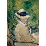 Puzzle  Grafika-01129 Edouard Manet : Madame Manet à Bellevue, 1880