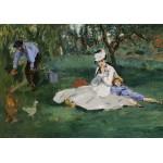 Puzzle  Grafika-01132 Edouard Manet : La Famille Monet dans leur Jardin à Argenteuil, 1874