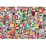 Puzzle  Grafika-01135 Collage de Chiffres et de Lettres
