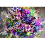 Puzzle  Grafika-01137 Fleurs et Papillons