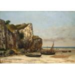 Puzzle  Grafika-01158 Gustave Courbet: Plage de Normandie, 1872-1875