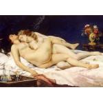 Puzzle  Grafika-01159 Gustave Courbet: Le Sommeil, 1866