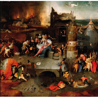 Puzzle Grafika-01165 Bosch : La Tentation de Saint Antoine, 1495-1515