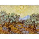 Puzzle  Grafika-01173 Vincent Van Gogh : Les Oliviers, 1889