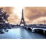 Puzzle  Grafika-01198 La Tour Eiffel par Temps de Pluie en Hiver