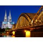 Puzzle  Grafika-01204 Cathédrale et Pont Hohenzollern de Cologne
