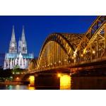 Puzzle  Grafika-01205 Cathédrale et Pont Hohenzollern de Cologne