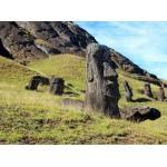 Puzzle  Grafika-01266 Île de Pâques, Moai at Quarry