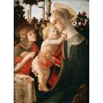 Puzzle  Grafika-01287 Sandro Botticelli: La Vierge à l'Enfant, le Jeune Saint Jean-Baptiste, 1470-1475