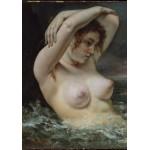 Puzzle  Grafika-01289 Gustave Courbet: La Femme dans les Vagues, 1868