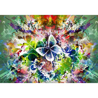 Puzzle Grafika-01301 Fleurs et Papillons de Printemps