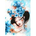 Puzzle  Grafika-01326 Misstigri : Blue Flowers