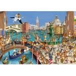 Puzzle  Grafika-01443 François Ruyer : Les Lapins à Venise