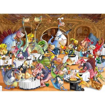 Puzzle Grafika-01464 François Ruyer: Restaurant des Dragons