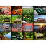 Puzzle  Grafika-01482 Collage - Bancs