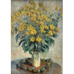 Puzzle  Grafika-01536 Claude Monet - Jérusalem Fleurs d'artichaut, 1880