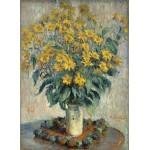 Puzzle  Grafika-01537 Claude Monet - Jérusalem Fleurs d'artichaut, 1880