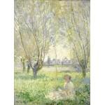 Puzzle  Grafika-01539 Claude Monet - Femme assise sous les Saules, 1880