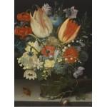 Puzzle  Grafika-01583 Peter Binoit: Nature Morte avec des Tulipes, 1623