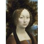 Puzzle  Grafika-01592 Leonard de Vinci: Ginevra de' Benci, 1474-1476