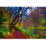 Puzzle  Grafika-01664 Forêt d'Automne Stylisée