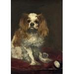 Puzzle  Grafika-01707 Edouard Manet : Un Cavalier King Charles Spaniel, 1866