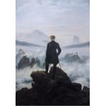 Puzzle  Grafika-01718 Caspar David Friedrich - Le voyageur au-dessus de la mer de nuages, 1818