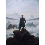 Puzzle  Grafika-01719 Caspar David Friedrich - Le voyageur au-dessus de la mer de nuages, 1818