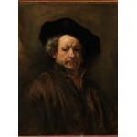 Puzzle  Grafika-01727 Rembrandt - Auto-Portrait, 1660