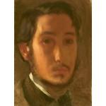 Puzzle  Grafika-01765 Edgar Degas : Autoportrait avec Col Blanc, 1857