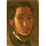Puzzle  Grafika-01766 Edgar Degas : Autoportrait avec Col Blanc, 1857