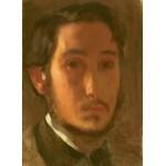 Puzzle  Grafika-01767 Edgar Degas : Autoportrait avec Col Blanc, 1857